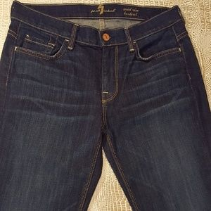 7 For All Mankind Mid Rise Bootcut Dark Wash